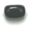Semi-precious 8X12mm Nugget 16in Strung Black Jet Agate